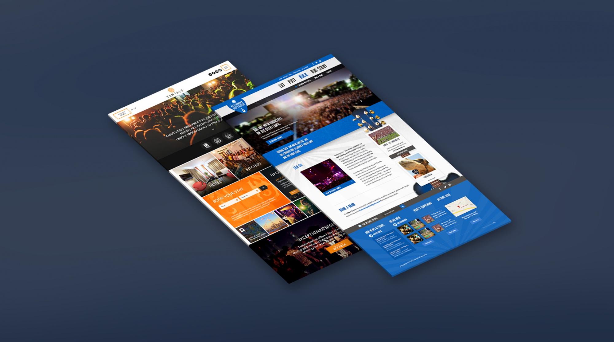 Hospitality Website Design | Allison Cassara – Visual & UI